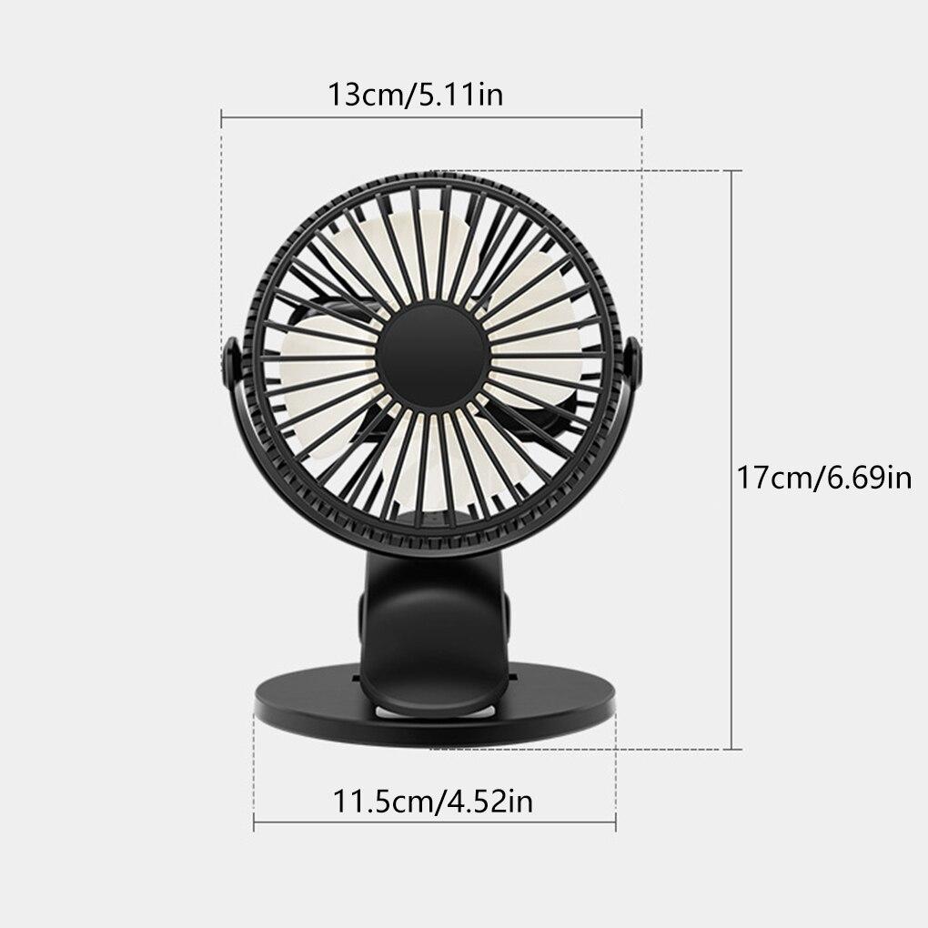 Портативный USB Настольный вентилятор с зажимом, перезаряжаемый охлаждающий мини-Настольный вентилятор с вращением на 360 градусов, 3 скорости, регулируемый вентилятор с зажимом-3