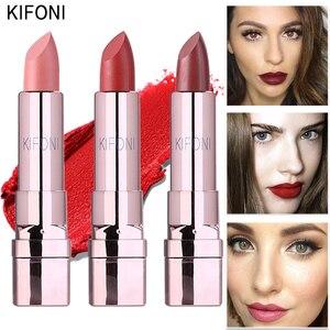 KIFONI makeup Brand waterproof Lipstick beauty Matte Lipstick ruby woo Red Purple Cosmetics MC Lipstick cosmetic batom(China)