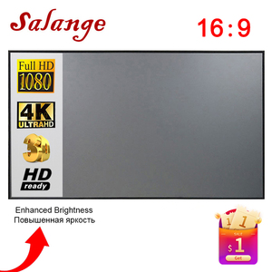 Salange Projector Screen,60 100 120 inch Reflective Fabric Cloth Projection Screen For YG300 Projetor XGIMI DLP LED Home Theater