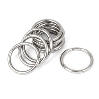 M5 x 50mm 304 Stainless Steel Strapping Welded Round O Rings 10 Pcs|Bolts|   -