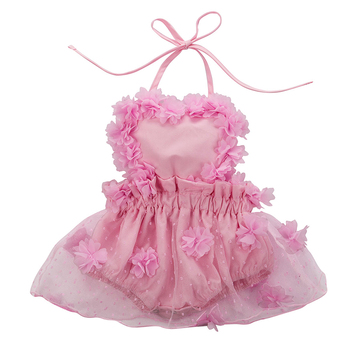 Newborn Infant Baby Girl Romper Dress Floral Lace Belt Mesh Romper Jumpsuit Princess Little Girl Party Clothes Cute Kids Outfits pudcoco cute newborn kids baby girl infant lace romper dress jumpsuit playsuit clothes outfits