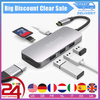 dodocool 7-in-1 USB C USB-C Hub with Type C Power Delivery Hub 4K HD Output USB 3.0 HUB SD/TF for MacBook Pro Huawei P20 Pro - DISCOUNT ITEM  35 OFF Computer & Office