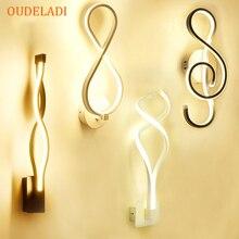 מיטת השינה Led מנורת קיר Creative פשוט מודרני מנורת אמנות מנורת קיר אקריליק מסדרון מדרגות אורות