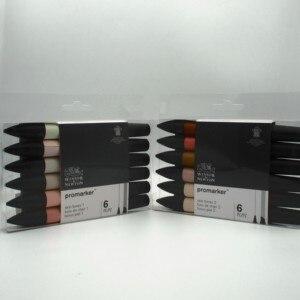 Image 3 - וינזור וניוטון Promarker גווני עור סט תאום טיפ מבוסס אלכוהול מהיר יבש סמנים