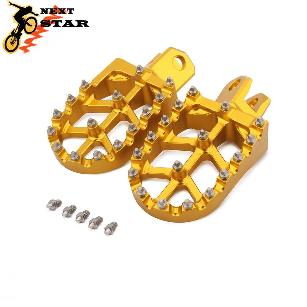 Foot Pegs Footpegs Footrest Pedals CNC Aluminum Foot rests For Suzuki RMZ 250 RMZ250 2010-2018 10-18 RMZ 450 RMZ450 2008-2018 08-18 Motorcycle Motocross Dirt Bike Red