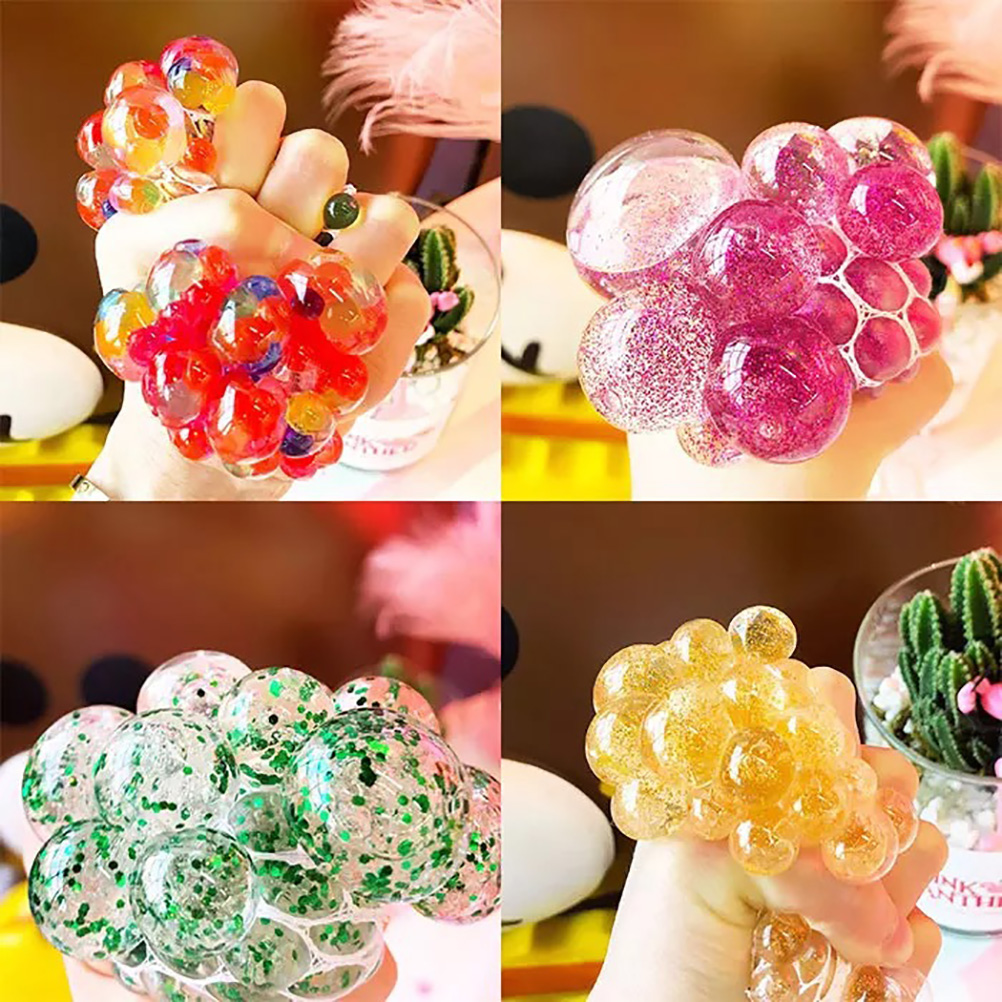 Hand-Fidget-Toy Balls Squeeze-Ball Stress Relief Rainbow Mesh Novetly img3