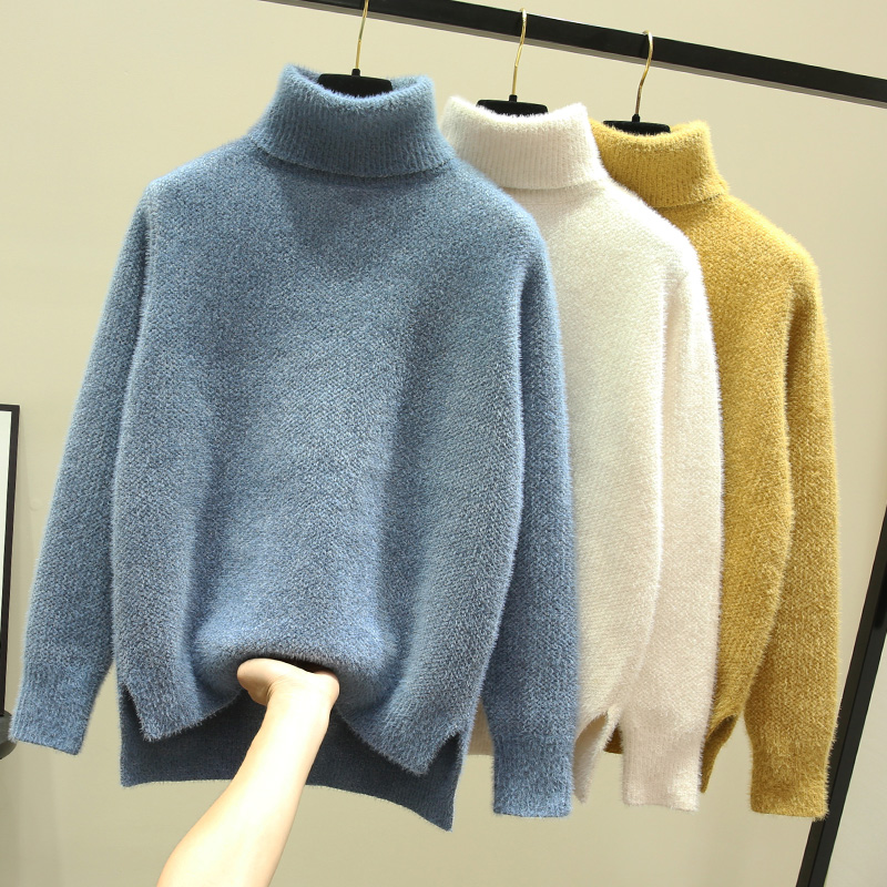 Women Knitted Turtleneck Sweater Winter Clothes Women Soft Thick Warm Pullover Sweater Autumn Knitwear Casual Jumper Knitwear