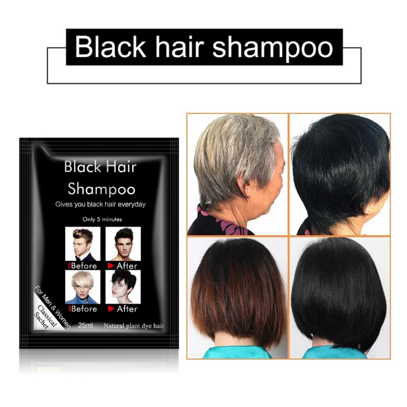 Hair Black Shampoos Fast Coloring Easy To Clean No Stimulation Hair Dye Color Shampoo