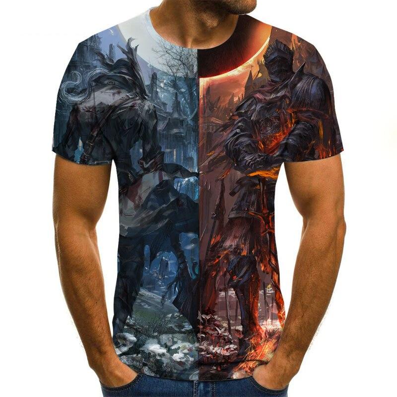 New Summer 3D Animation Printed T-shirt 3D Digital Printed T-shirt Men/women Casual Harajuku Brand Short-sleeved Shirt Brand