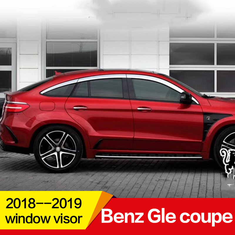 Protection-Shield Window-Visor-Plating Side-Sun-Rain Mercedes-Benz For GLE Coupe Exterior