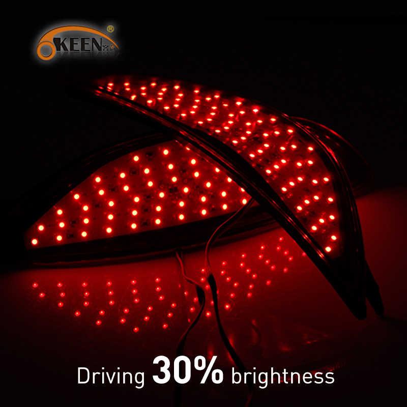 Voor Hyundai Accent/Verna/Solaris 2008 2009 2010-2015 Voor led Rear Bumper Reflector Remlicht LED lampen Auto Waarschuwing Achterlicht
