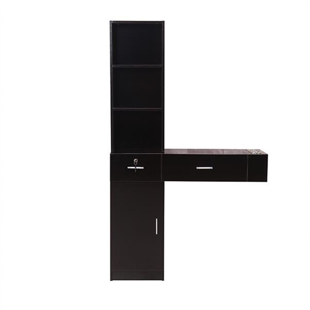 Wall Mount Beauty Salon Spa Mirrors Station Hair Styling Station Desk White Black