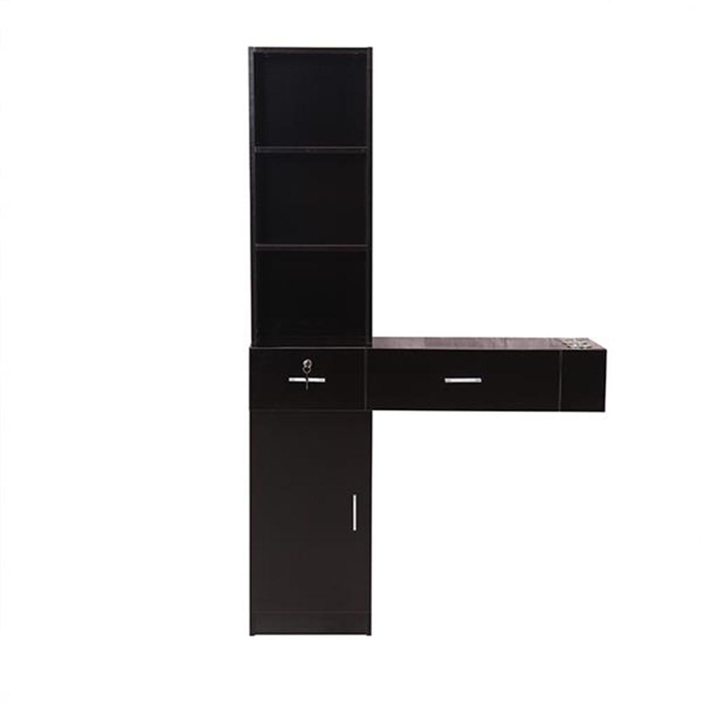 Wall Mount Beauty Salon Spa Mirrors Station Hair Styling Station Desk White Black