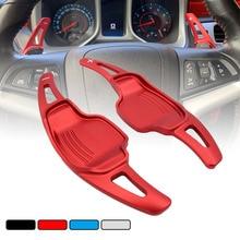 For Chevrolet Camaro 2012 2013 2014 2015 2pcs Aluminum Car Steering Wheel Shift Paddle Shifter Extension