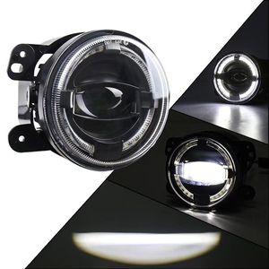 Image 4 - 2PCS 4 אינץ עגול Led ערפל אורות 30W 6000K לבן Halo טבעת DRL Off Road ערפל מנורות עבור ג יפ רנגלר JK TJ LJ גרנד צ ירוקי לאדה