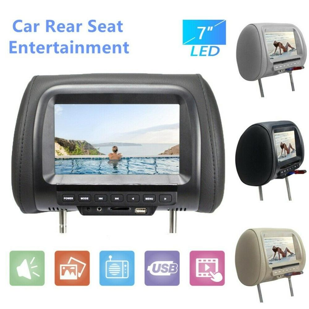 7inch 800*480 HD Car Headrest  Headrest Monitor DVD Automotivo LCD Display Digital Screen AV Input Radio Car Pillow Media Play