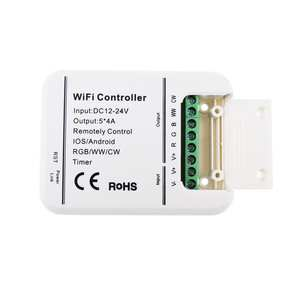 DC12-24V 4A 5CH RGB/WW/CW LED WIFI Controller IOS Android Smart Link Timer