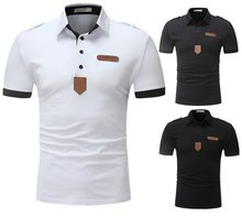 2019 Summer High Quality Fashion Youth Men Popular Cool Casual Short-sleeved Polo Shirt(China)