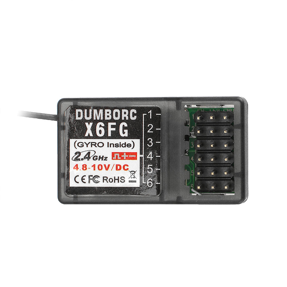 DUMBORC X6FG X6F 2.4G 6CH Receiver With Gyro For RC DUMBORC X6 X4 X5 Transmitter Remote Controller