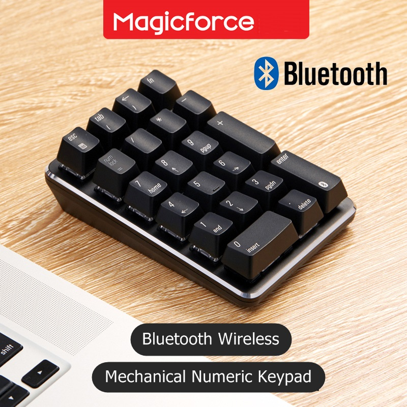 Новая беспроводная Механическая цифровая клавиатура MAGICFORCE 21 с Bluetooth для настольного ноутбука, планшета Gateron Cherry, механическая ось