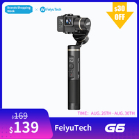 FeiyuTech G6 Splashproof Handheld Gimbal Feiyu Action Camera Wifi + Bluetooth OLED Screen Elevation Angle for Gopro Hero 6 5 RX0