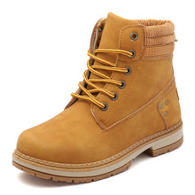 Winter Women Boots Female Ankle For Martin PU Leather Lace Up Fashion Cargo Booties with Velvet