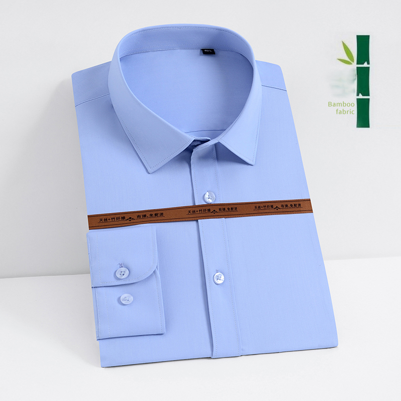 2020 New Arrival Spring Men's Shirt Long Sleeved Man Elasticity Formal Business Causal Comfortable Soft Shirt Brand DS381