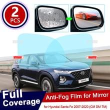 Para hyundai santa fe 2007 2019 2010 cm dm tm ix45 45 capa completa anti nevoeiro filme espelho retrovisor acessórios santafe 2015 2017 2018