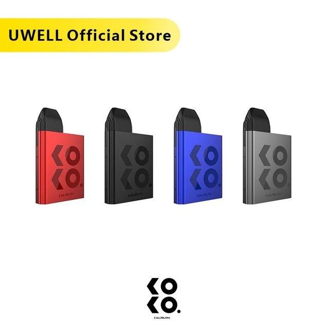 UWELL Caliburn KOKO Pod System 11W 520 mAh Battery 2 ML Refillable Cartridge Compact and Portable Vape Kit