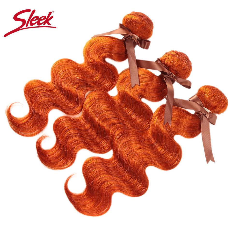 Гладкие норковые бразильские волнистые пряди оранжевого и красного цвета, волнистые человеческие волосы Remy, волнистые накладные волосы