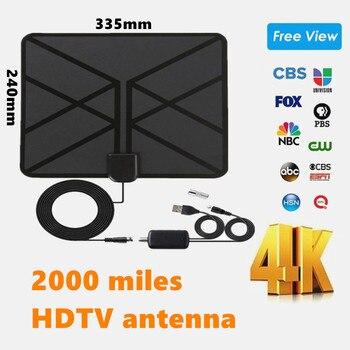 2020 indoor 2000 Miles HDTV Antennas Satellite receiver antenna tv digital With Amplifier Radius Aerial clear Fox satellite dish