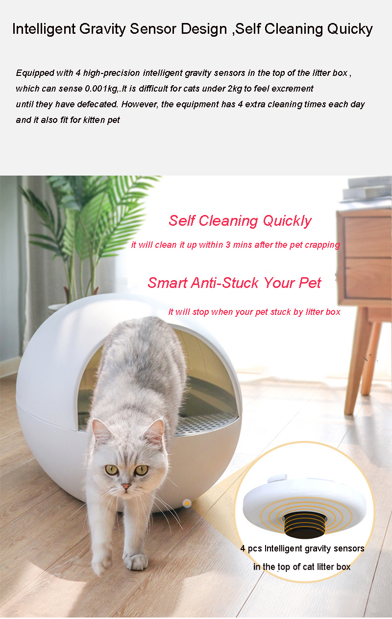 Intelligent Fully Automatic Cat Litter Box with Smart Self-Cleaning Feature By Horizon Care