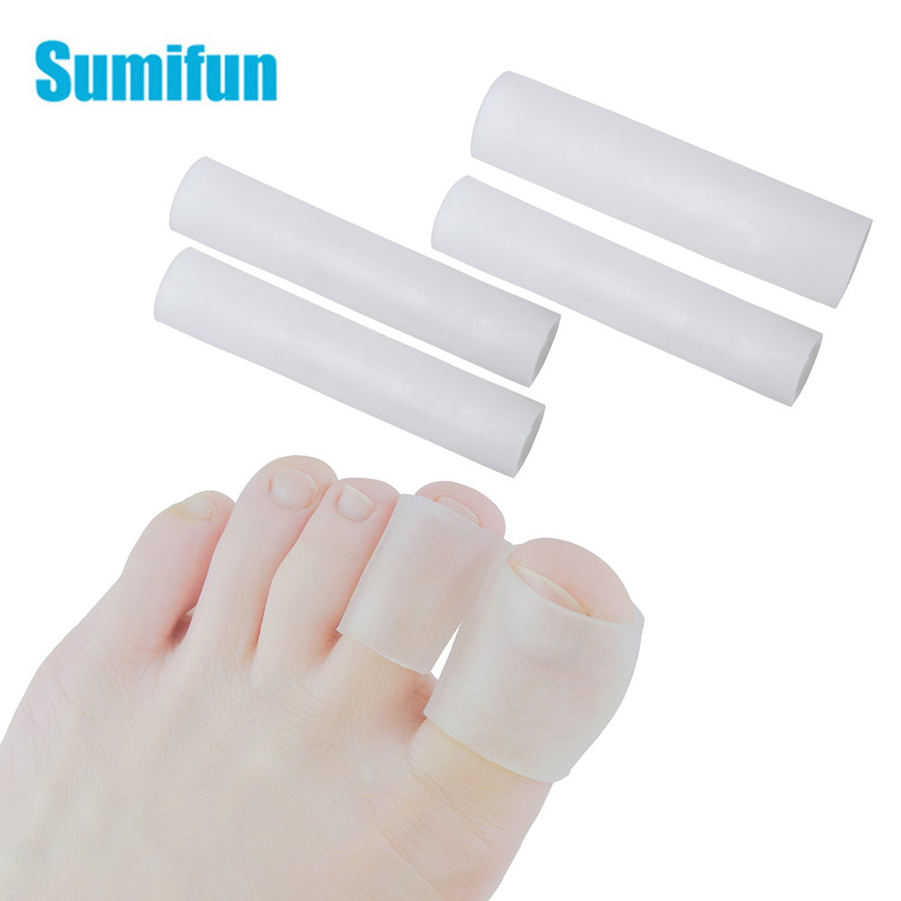 Sumifun Gel Tube Finger & Toe Protectors Foot Feet Pain Relief Guard For Feet Care Insoles Little Toe Corn Blisters Callus(China)