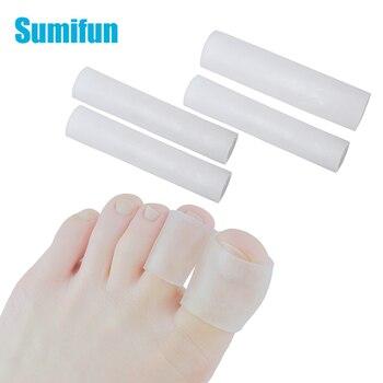 Tubo de Gel Sumifun, protectores para dedos y dedos del pie, protector para el alivio del dolor de los pies, plantillas para el cuidado de los pies, ampollas de maíz para dedo pequeño del pie, callos