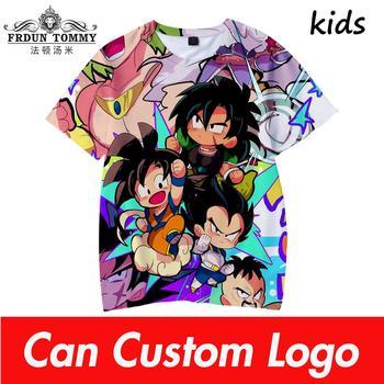 2019 Boys Summer T Shirt Dragon ball Kids 3d Print Tshirt For Boys Girls Children Clothes 4 5 6 7 8 9 10 12 Year