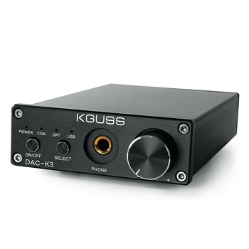 FFYY-Kguss Mini Hifi 2.0 Usb Digital Amplifier Dac Decoded Audio Headphone Amplifier 24Bit 192Khz Opa2134 Amp Dc12V--Us Plug