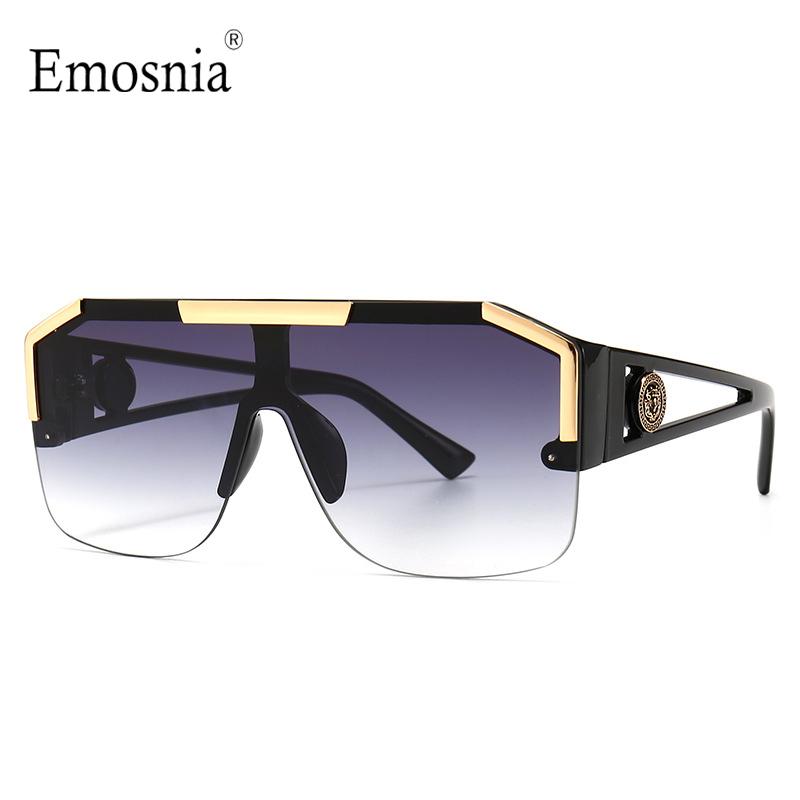 2021 New Fashion Big Square Sunglasses Men Style Gradient Trendy Driving Retro Brand Design Sun Glasses UV400 Wholesale Dropship