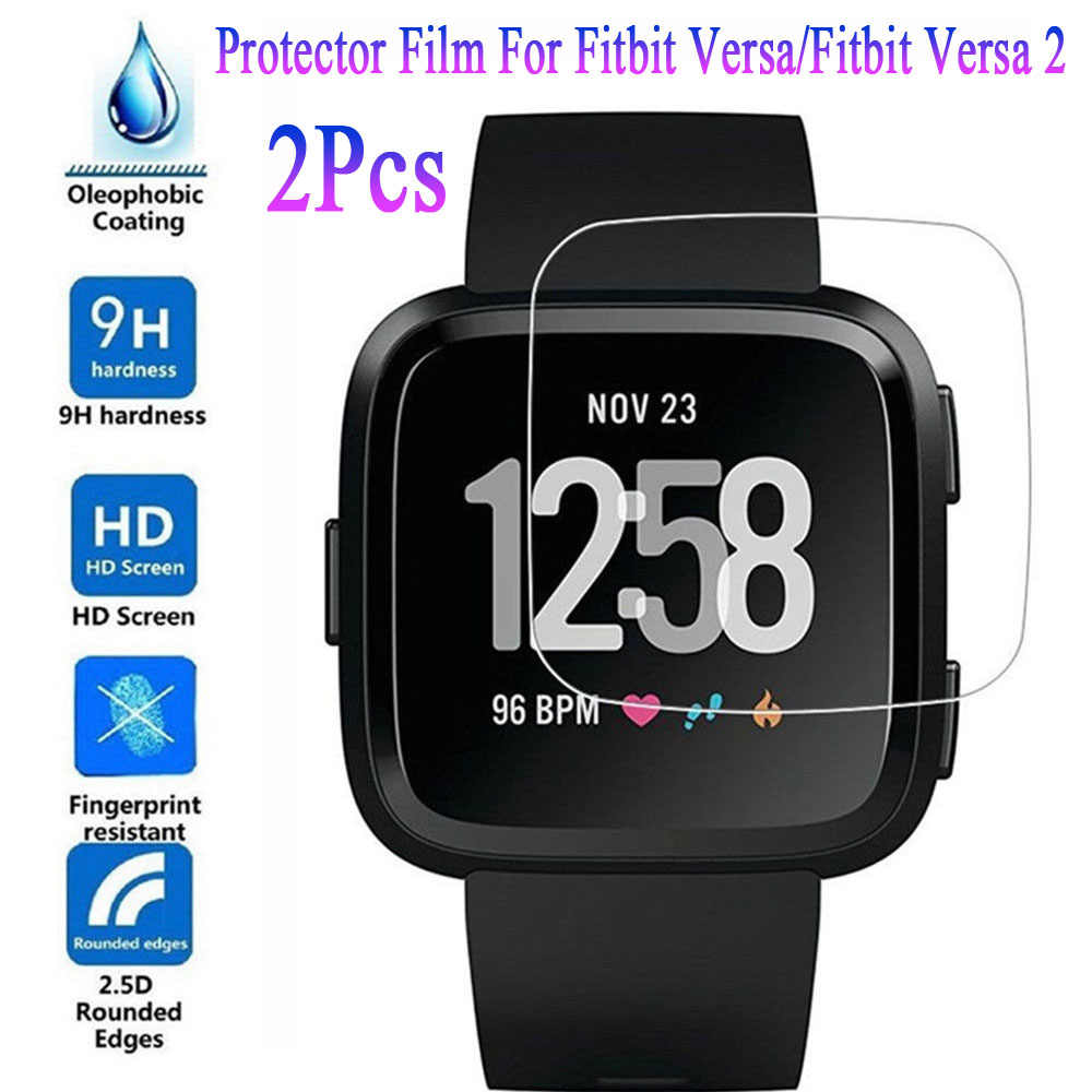 2 Stuks Screen Protector Film Ultra Dunne Tpu Guard Cover Voor Fitbit Versa/Fitbit Versa 2 Smart Horloge Accessoires