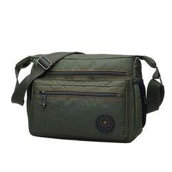 Дорожные сумки через плечо для мужчин, нейлоновая Повседневная водонепроницаемая сумка-Кроссбоди, мужские портативные слинги, шоппинг чер...