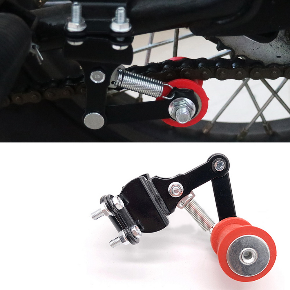 Universal Motorcycle Moto Bike Chain Tensioner Chain Adjuster On Roller Tools Modified ATV Motocross Motorcycle Chain Tensioner