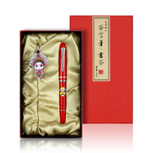 2 PCS Chinese Style Flowers Paper Bookmarks & Pen Painting Cards Retro Beautiful Boxed Bookmark Commemorative Gifts