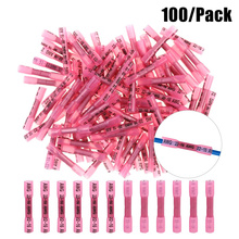 100PCS 22-16 AWG Heat Shrink Crimp Terminals Waterproof Fully Insulated Seal Butt Electrical Wire Connectors Kit Assortment Blue