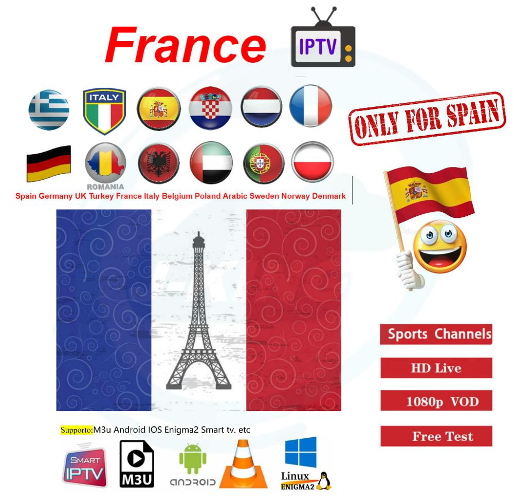 300+ France/frence IPTV 7000+ Europe Live/3000 Vod Portugal Spain Germany Netherlands Adult Xxx Football M3U Android