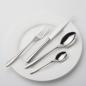 24Pcs/set Dinnerware Set 18/10 Stainless Steel Silverware Tableware Luxury Cutlery Set Flatware Knife Fork Spoon Dishwasher Safe 1