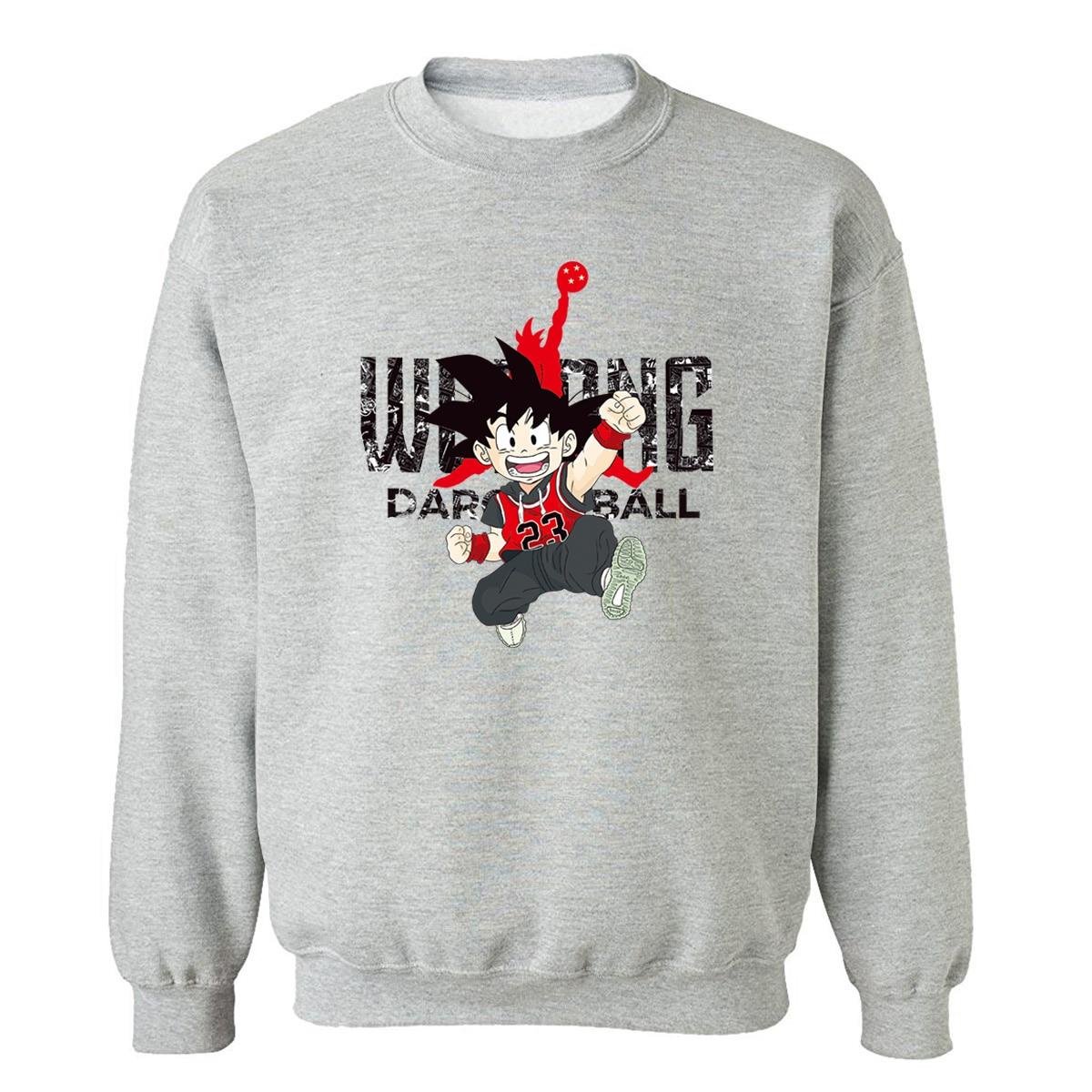 Japanese Anime Dragon Ball Z Men's Sweatshirts 2019 Autumn Winter Fleece Pullover Brand Clothes Streetwear Sweatshirt Men Hoodie