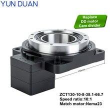 130 мм Высокая точность nema23 10:1 полый роторный редуктор
