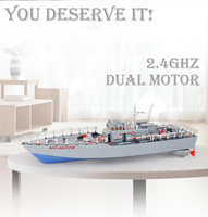 Super large remote control ship Torpedo Boat Warship Electric Vessel Model Children's Toy Remote Control Ship Hengtai 2877B