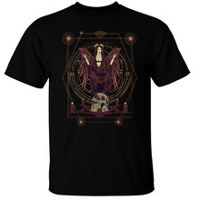 Dark Angel T-Shirt Mens Gotico Satanico Cranio Pentagramma Magia Strega Adolescente Pop Top Tee Shirt(China)