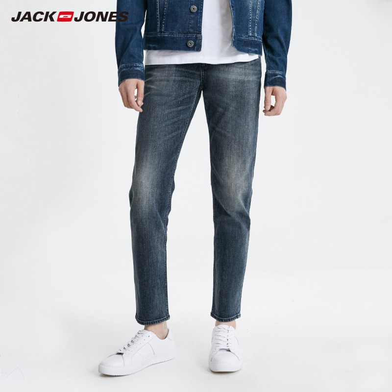 JackJones Men's Winter Stretch Slim Fit Jeans Stretch Biker Pants Fashion Classical Denim Jeans Basic 219132562