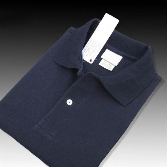 Top Quality Men's Crocodile Summer New Short Sleeve Polo Shirts 100% Cotton Casual Solid Colour Menl Tees Fashion Homme